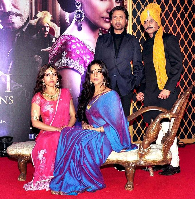 Irrfan,Jimmy,Soha And Mahie At The Trailer Launch Of Saheb Biwi Aur Gangster Returns
