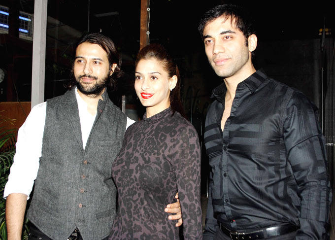 Apoorva With Wife Shilpa And Kushal Clicked At The Launch Of Manoj And Teejay Bohra Production House
