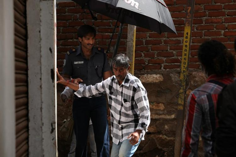 Chandra And Gopichand On the Sets Of Jackpot Movie