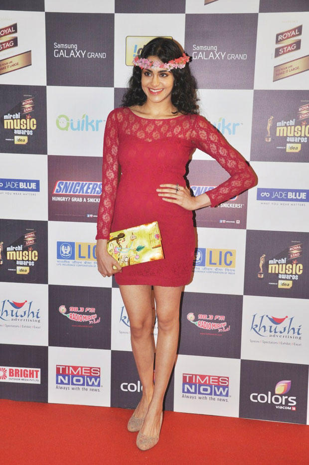 Adah In A Red Mini Dress Spotted At 5th Radio Mirchi Music Awards