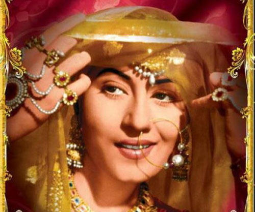 Madhubala Cute Bridal Look Photo From Movie Mughal E Azam