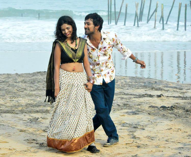 Varun And Sanchita Dancing Still In A Song In Movie Chammak Challo