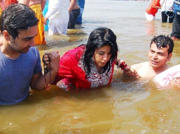 Ekta Kapoor Took Holy Dip At Kumbh Mela In Allahabad