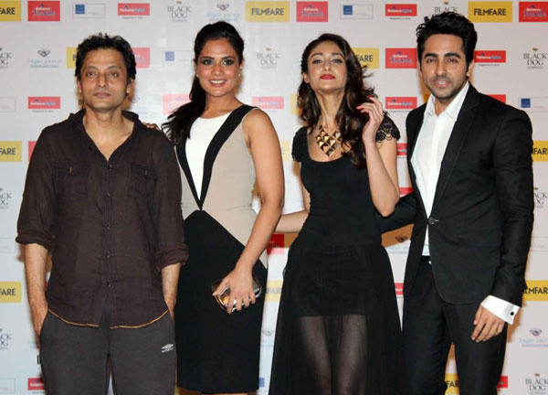 Sujoy,Richa,Ileana And Ayushmann Posed For Camera At The Launch Of Filmfare Special Award Issue