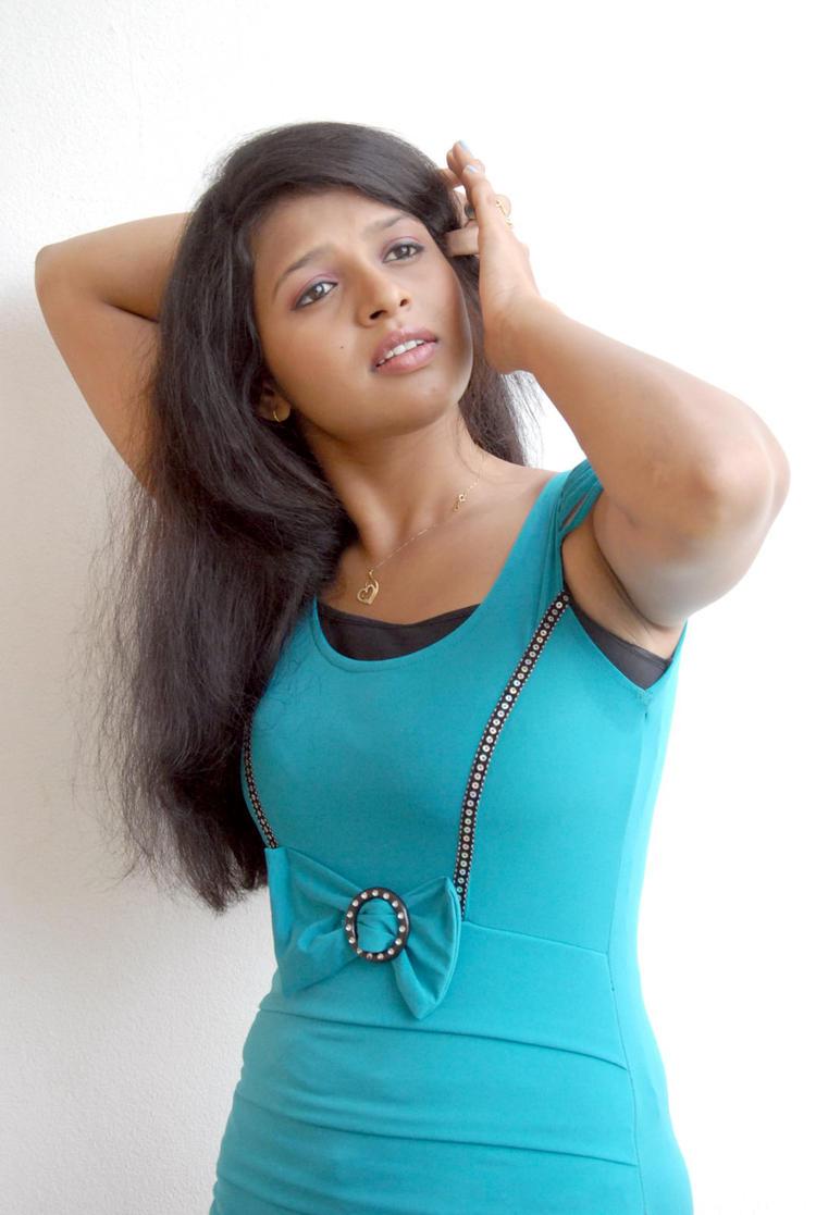 Aswi Looked Ravishing In A Blue Ensemble At Amma Nanna Voorelithe Movie Press Meet