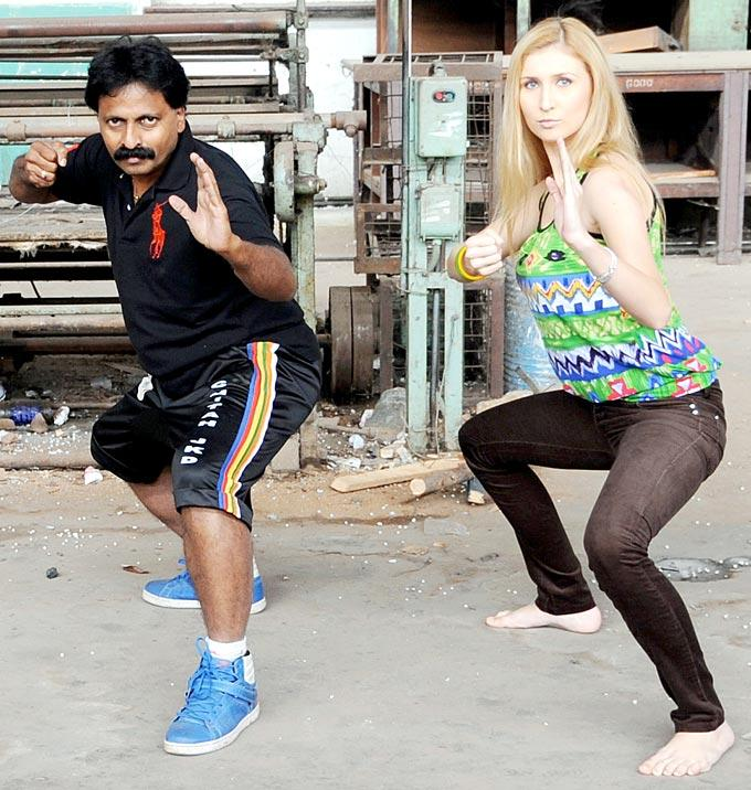 Claudia And Yajness At Yajness Shetty's Self Defence Class