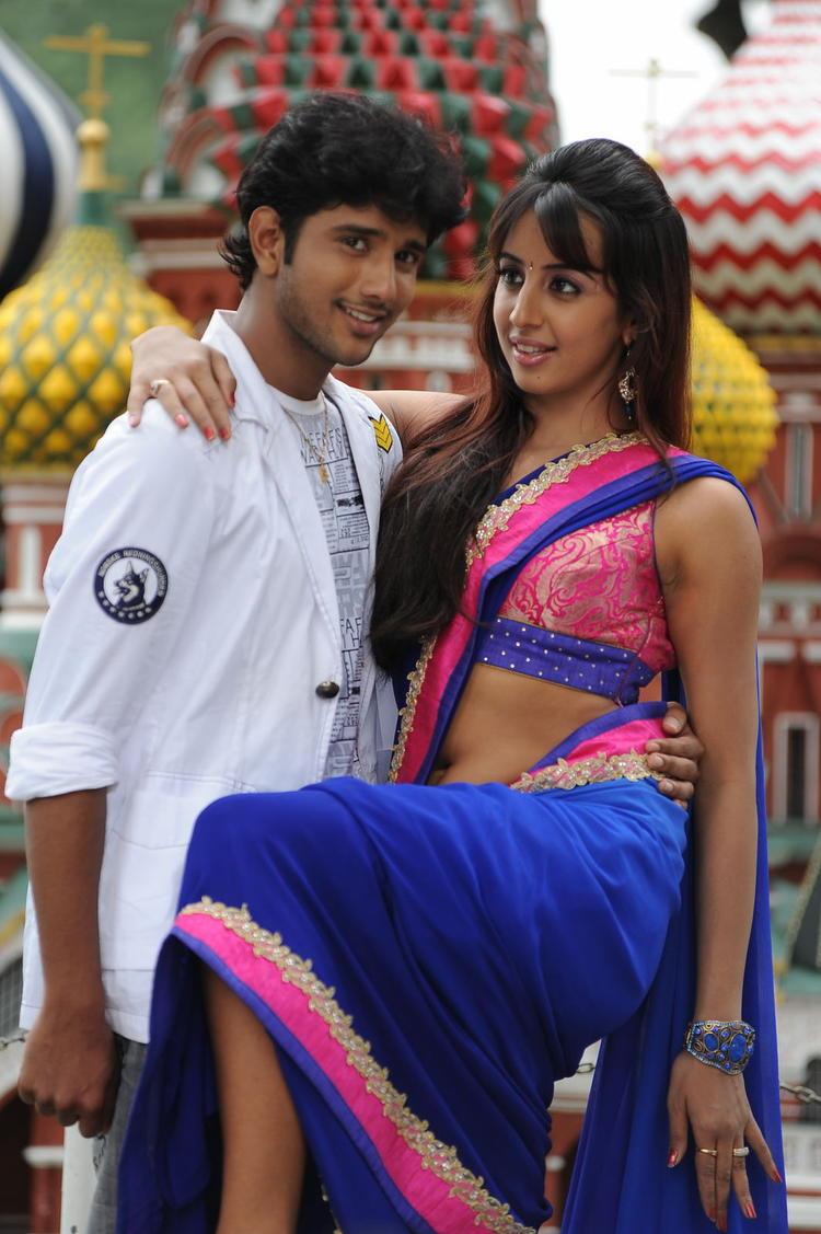 Jayanth And Sanjana Dance Still From Siva Kesav Movie