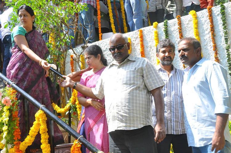 M. M. Keeravaani Spotted At Emo Gurram Egara Vachu Movie Launch Event