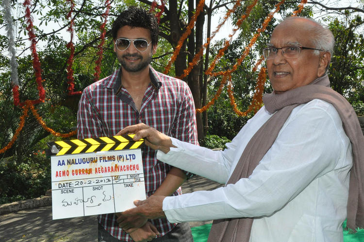 Sumanth And ANR Launching The Movie At Emo Gurram Egara Vachu Movie Launch Event