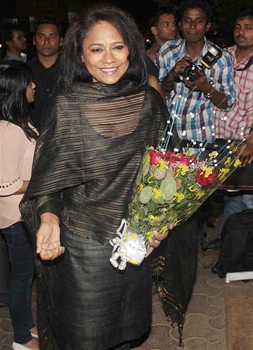 Seema Biswas Spotted At Sanjay Leela Bhansali Birthday Bash