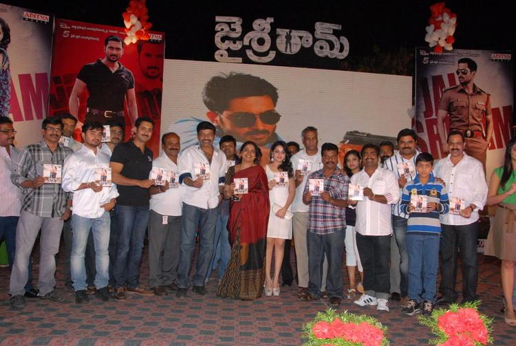 Uday,Rajasekhar,Jeevitha And Reshma Posed For Camera At Jai Sriram Audio Launch Function