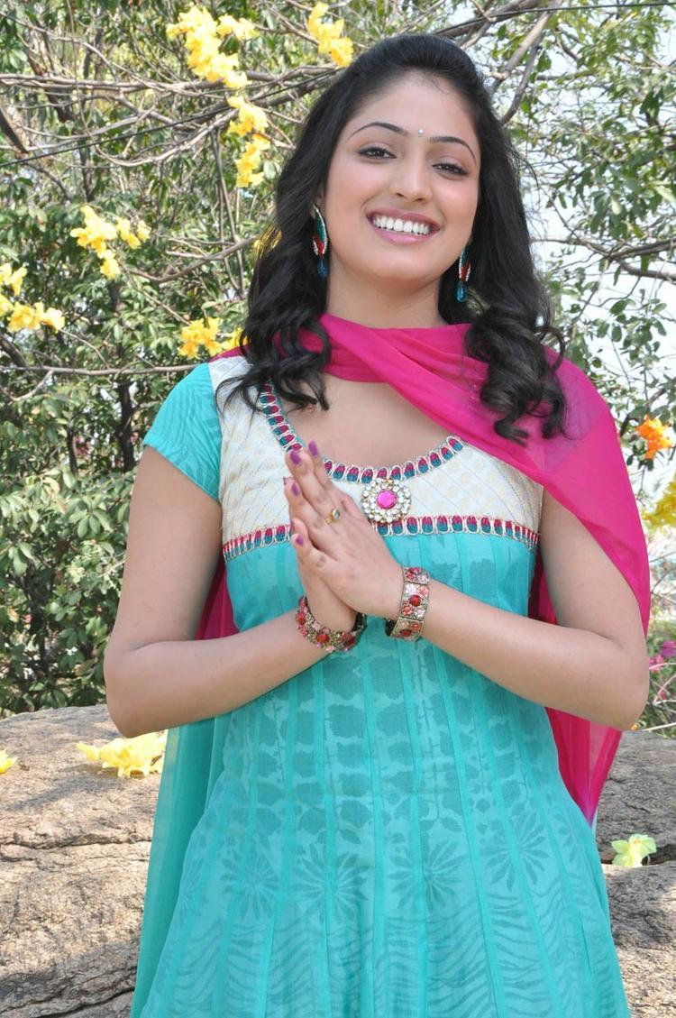 Haripriya Smiling Face Look Still At Ee Varsham Sakshiga Movie Launch Function