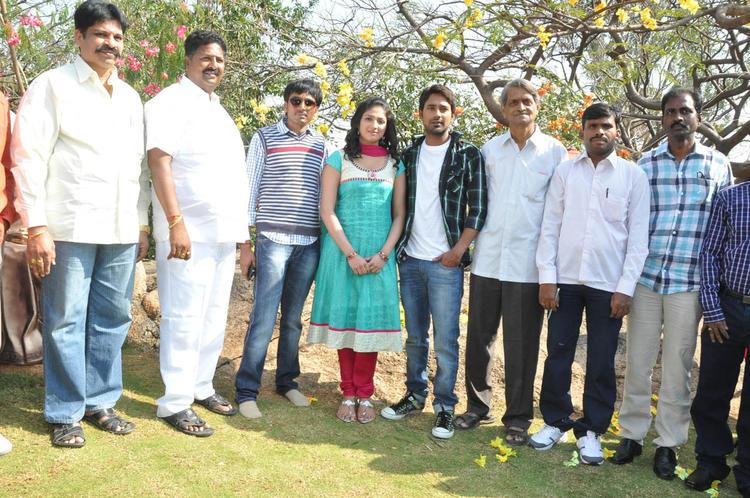 Haripriya And Varun With Team Posed For Camera At Ee Varsham Sakshiga Movie Launch
