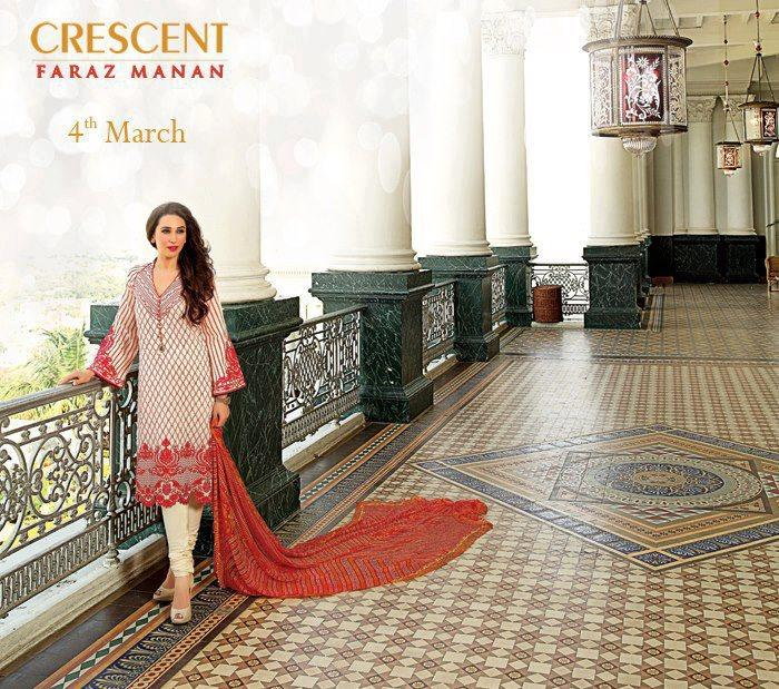 Karisma Kapoor Nice Look Photo Shoot For Crescent Lawn 2013 Collection Ad