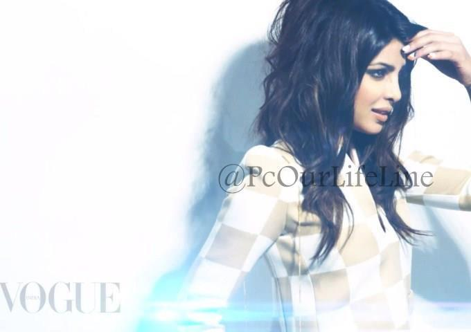 Priyanka Chopra Side Face Look Photo Shoot For Vogue India March 2013