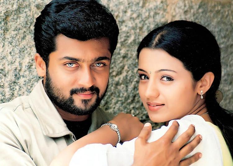 Suriya And Trisha Nice Look Photo Still From Movie Kanchu