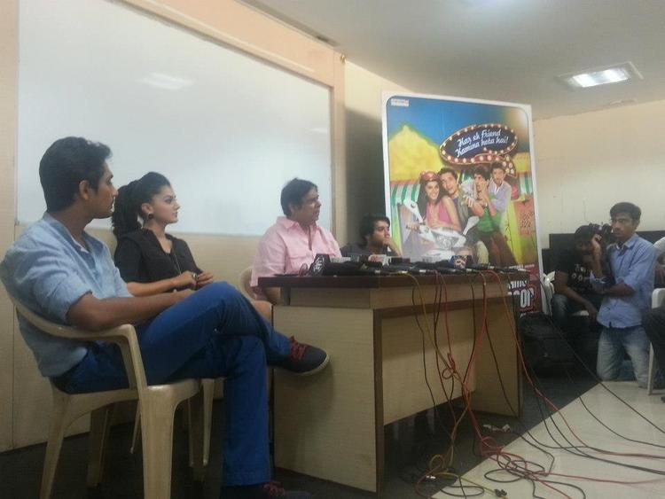 Taapsee,David Dhawan,Siddharth And Divyendu Photo Clicked During Promotion Of Chashme Baddoor