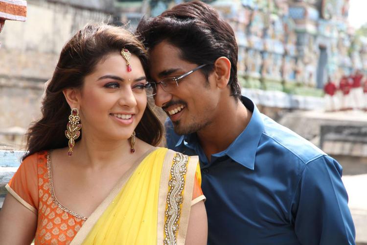 Siddharth And Hansika Romance Photo Still From Movie Theeya Velai Seiyyanum Kumaru