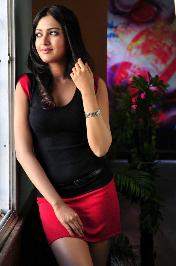 Katherine Sizzling And Attractive Photo Still In A Mini Dress From Movie Chammak Challo