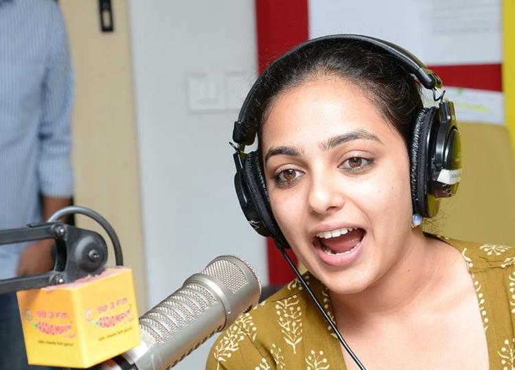 Nitya Menon Dazzling Look Photo Still At Radio Mirchi