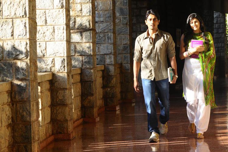 Siddharth And Ashrita Walking Photo Still From Movie Udhayam NH4