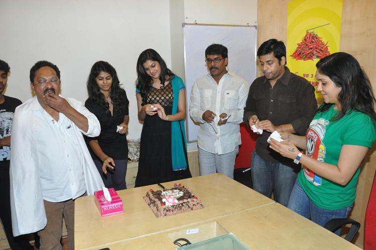 Ramesh,Ashritha And Subramaniam Snapped At Udhayam NH4 Movie Audio Launch