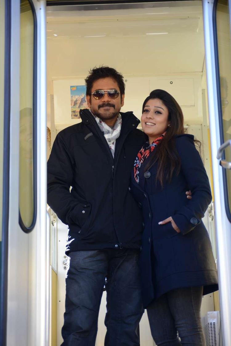 Nagarjuna And Nayantara Glamour Look Photo Still From Movie Greeku Veerudu