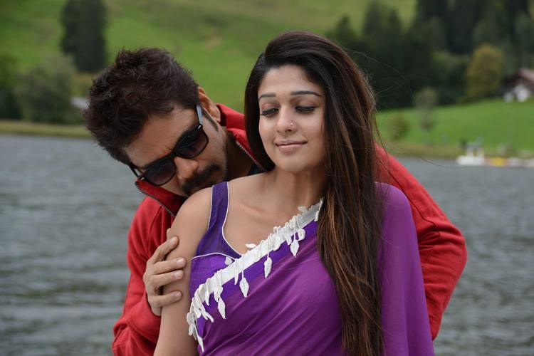 Nagarjuna And Nayantara Hot Expression Photo Still In Kissing From Movie Greeku Veerudu