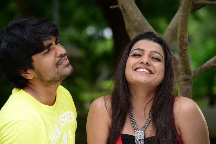 Srinivas And Tashu Nice Smiling Photo Still From Movie Gola Seenu