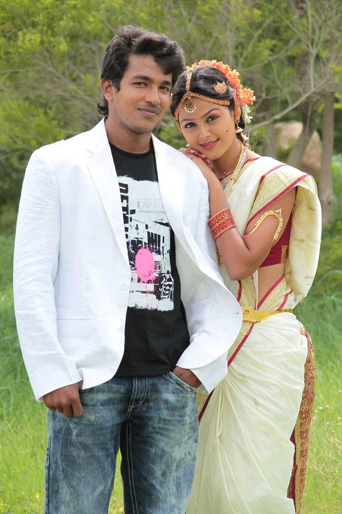 Sravan And Monal Cute Look Photo Still From Oka Collage Story Movie