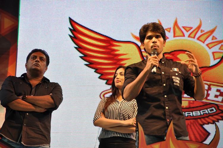 Prakash,Allu Sirish And Yami Spotted At Gouravam Audio Launch