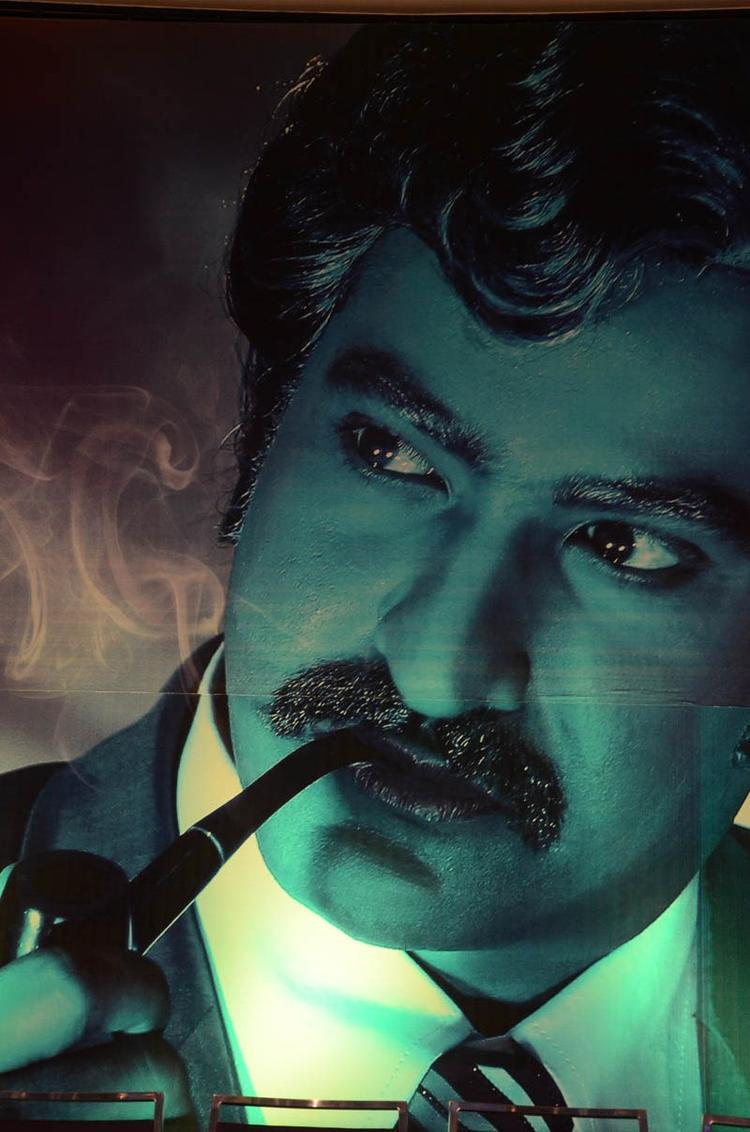 Jr.NTR Pipe Smoking Photo Wallpaper Of Movie Baadshah
