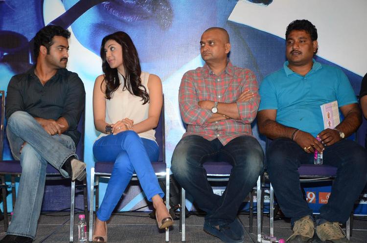 Jr.NTR,Kajal And Bandla Ganesh Spotted At Baadshah Movie Success Meet