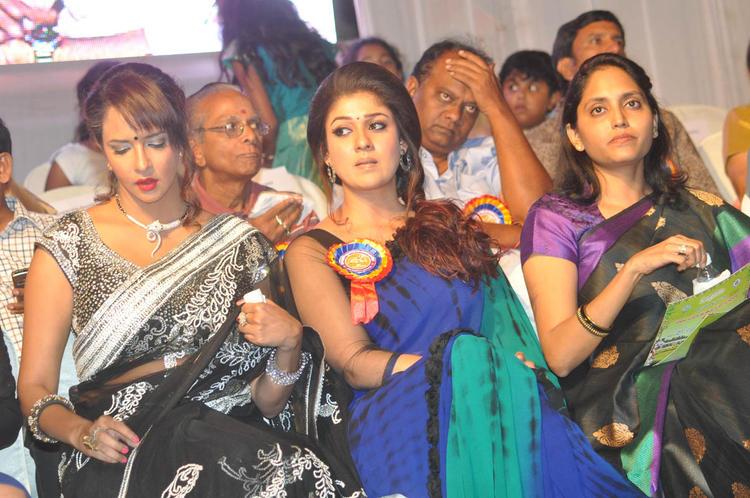 Nayanthara And Lakshmi Spotted At Nandi Awards 2011 Function