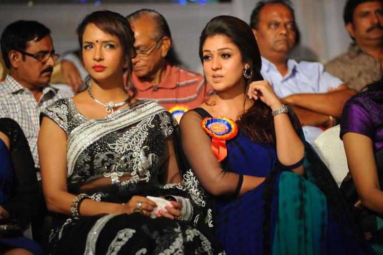 Lakshmi And Nayanthara Attend The Nandi Film Awards 2011 Function
