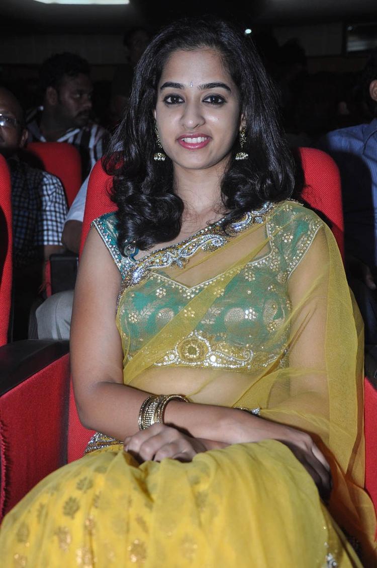Nandita In Saree Nice Look At Prema Katha Chitram Audio Release Function