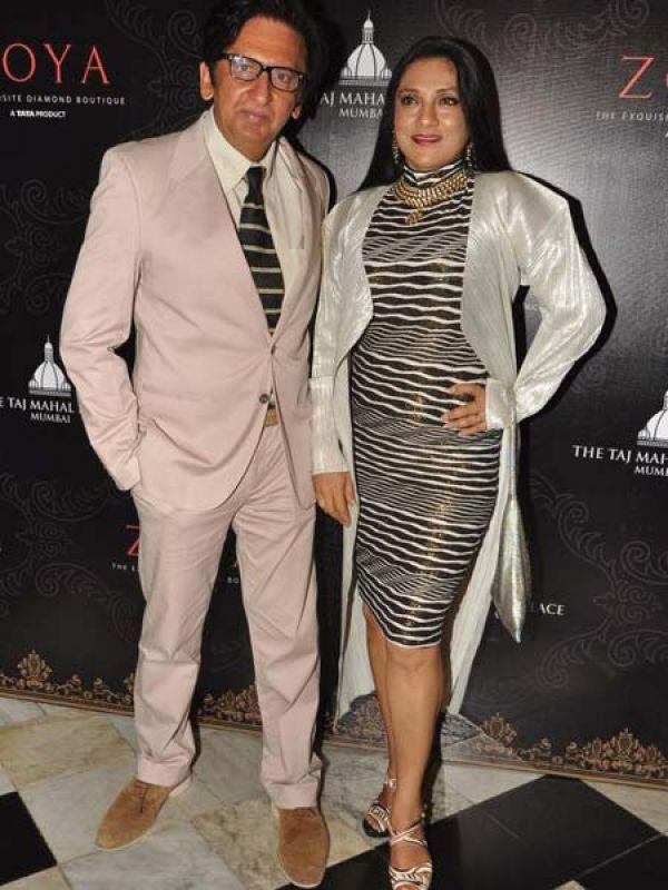 Kailash With Wife Aarti At Launch of Zoya Jewels Of The Crown Jewellery Line