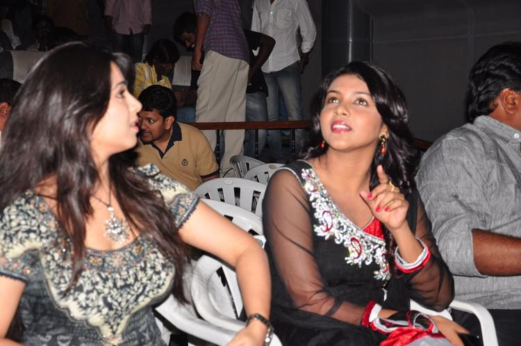 Charmy Kaur And Saranya Nag Cool Gossip At Prema Oka Maikam Movie Audio Release Function