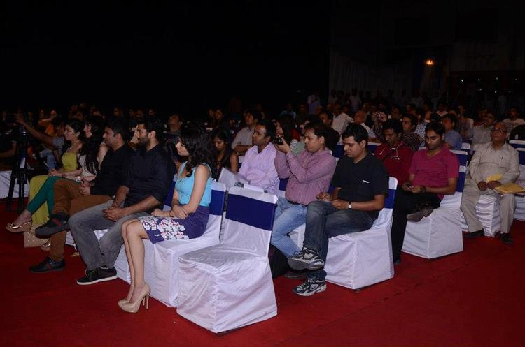 Aditya And Shraddha Enjoy The Programme At Aashiqui 2 Movie Music Launch Event