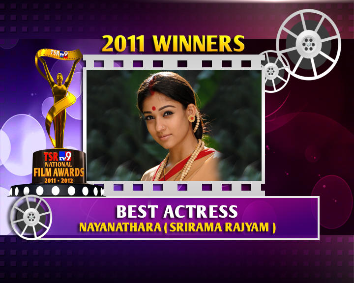 Nayanthara Is The Winner Of Best Actress For Sri Rama Rajyam Movie
