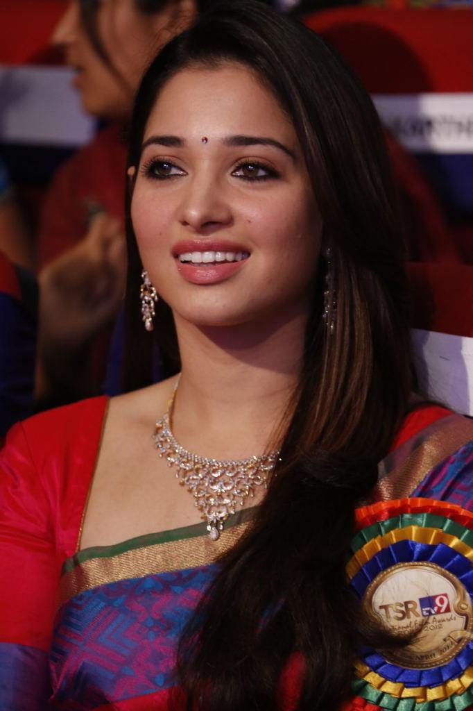 Tamannaah Bhatia Cool Smiling Look At TSR TV9 Film Awards Function