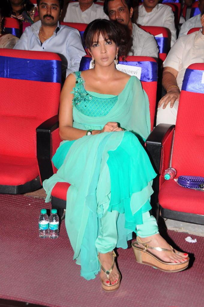 Manchu Lakshmi Fashionable Look At TSR TV9 Film Awards Function