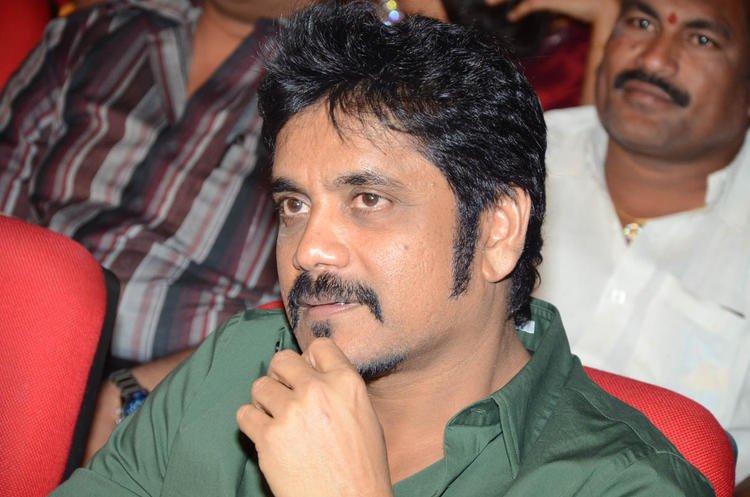 Nagarjuna Deep In Thought Look At Tadakha Movie Audio Release Function