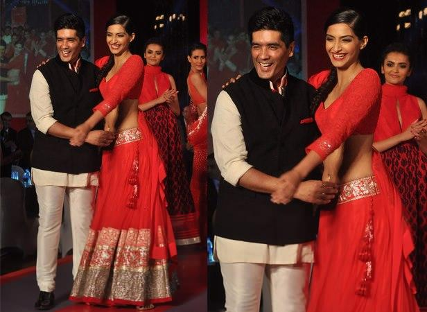 Sonam And Manish On The Ramp At Colgate Visible White Launch Event