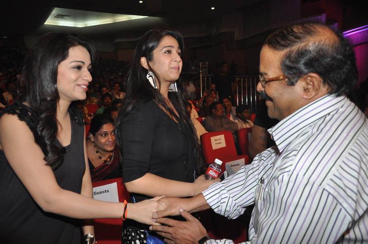 Reshma,K. S. Rama Rao And Charmy Cool At Iddarammayilatho Audio Launch Function