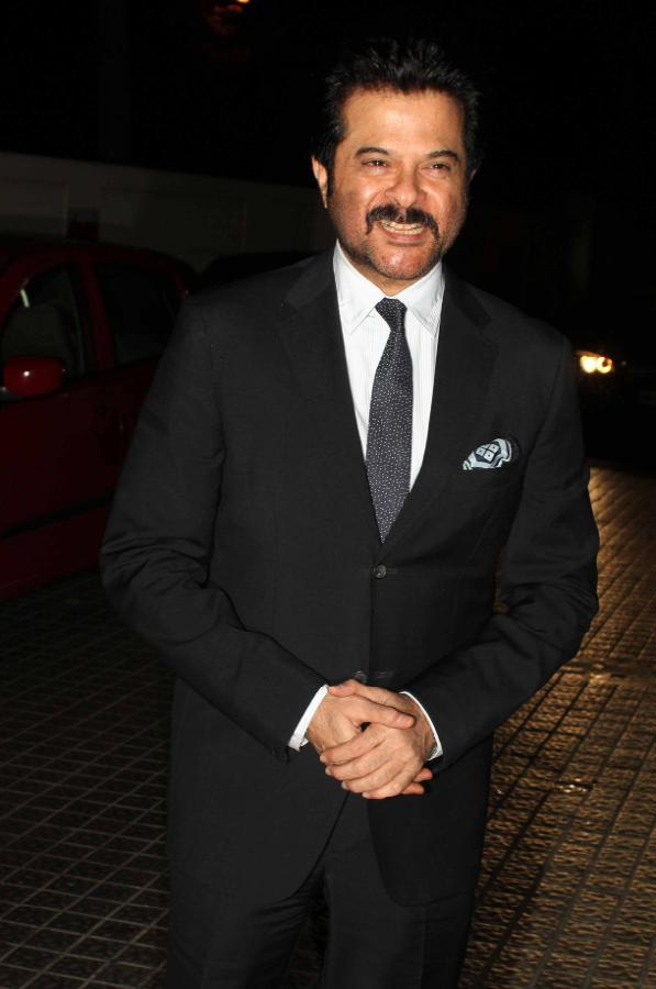 Anil Kapoor Dappers Look In Suit At Special Screening Of Shootout At Wadala