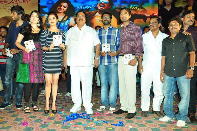 Sundeep,Charmy,Nisha,Dasari Narayana And Varun Clicked At Saradaga Ammaitho Movie Audio Launch Function