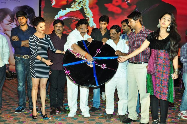 Sundeep,Nisha,Dasari Narayana,Allari,Varun And Charmy On The Stage At Saradaga Ammaitho Movie Audio Launch Function