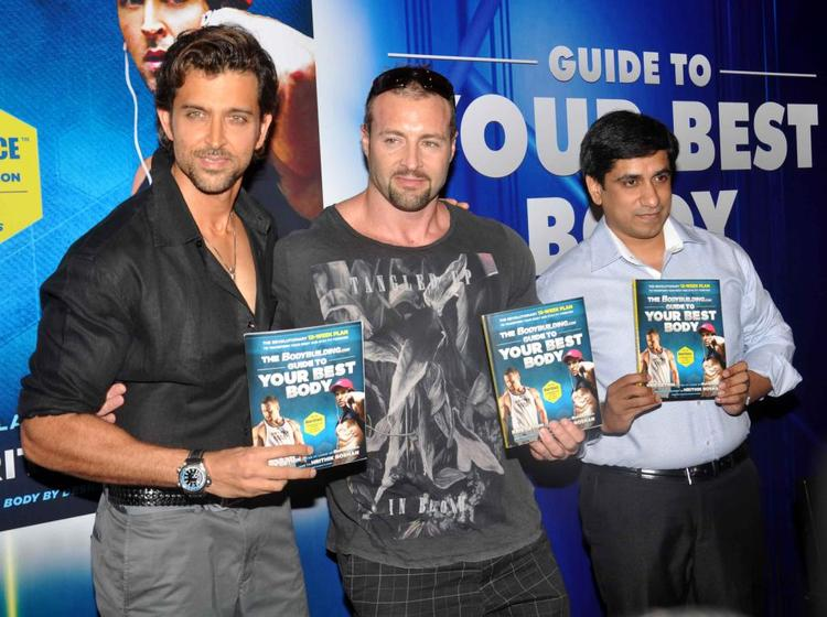 Hrithik Roshan And Kris Gethin During Fitness Book Your Best Body Launch Event