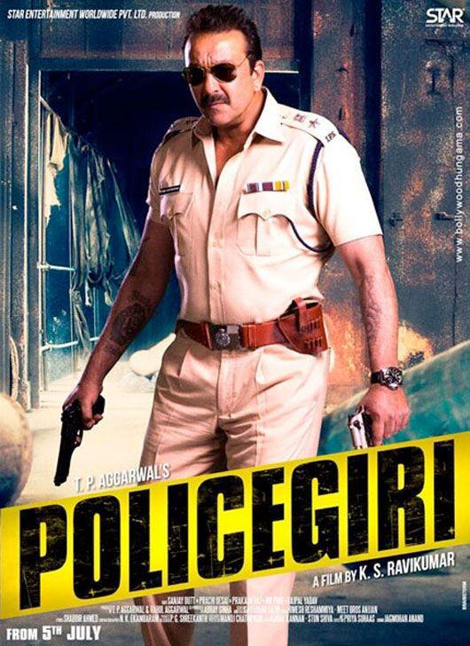 Sanjay Dutt Angry Look In Policegiri First Look Poster